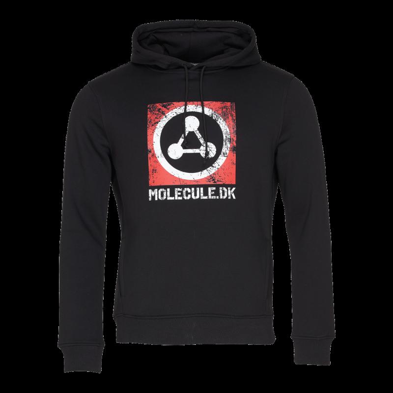 EPIC HOODIE - L - SORT : Molecule Hættetrøje