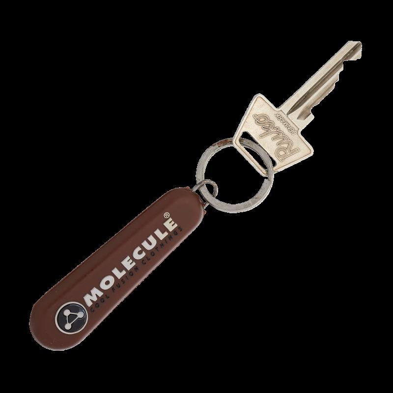 KC001 - NØGLERING - BRUN : Molecule keychain