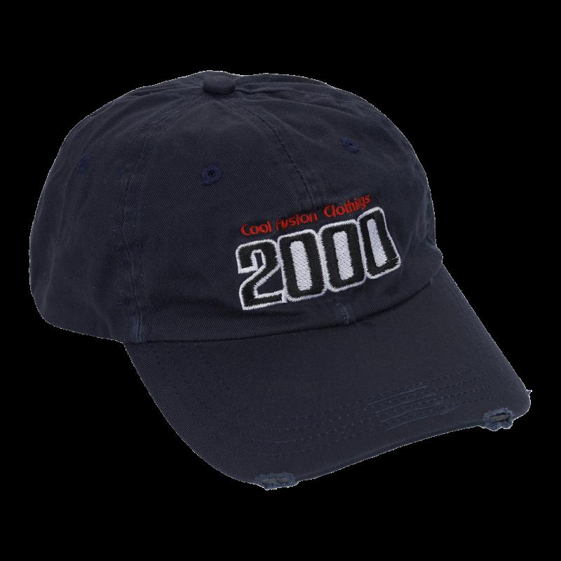 CAP : TEAM 2000 - Navy Blå - Fitted